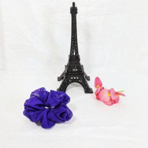 Purple Sparkly Scrunchy-Small