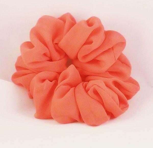 Orange Chiffon Hair Scrunchy-Full