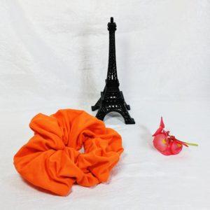 Orange Cotton Jersey Hair Scrunchy