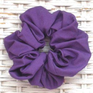 Purple/Mulberry Cotton Scrunchy-Small (scrunchy)