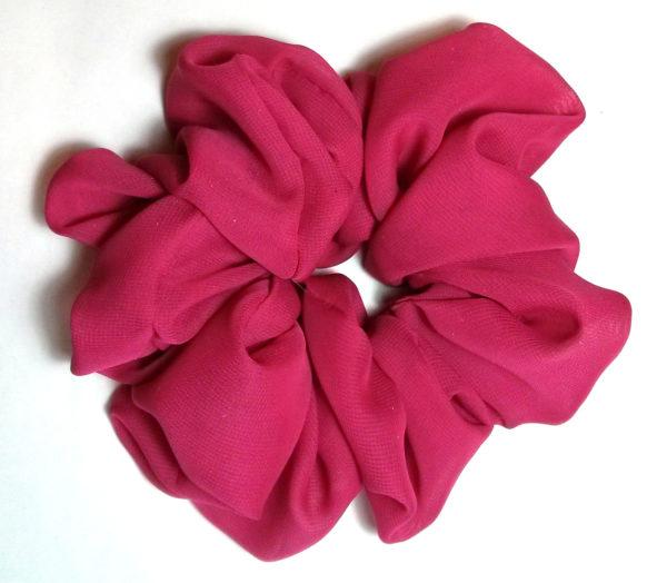 Berry Chiffon Hair Scrunchy-Jumbo (scrunchy)