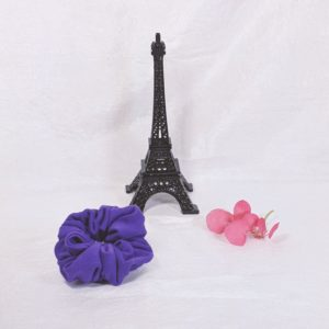 Purple Cotton Jersey Hair Scrunchies
