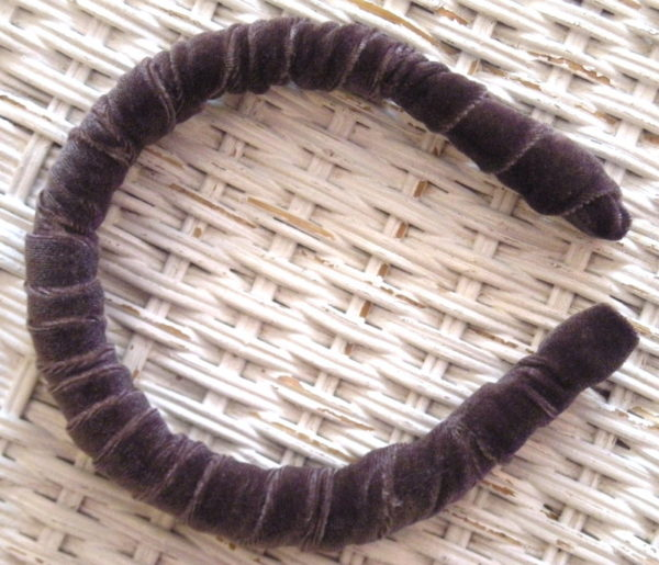 Charcoal Velvet Headband