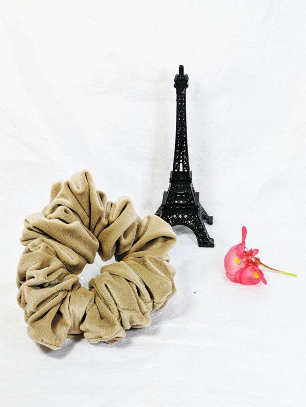 Light Tan Velvet Scrunchies-Full