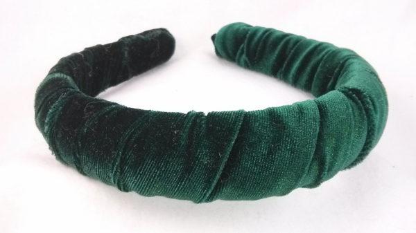 Hunter Green Velvet Headband
